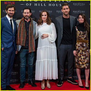Michiel Huisman & Co-Stars Step Out for 'Haunting of Hill House' Premiere!