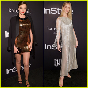 Miranda Kerr & Rosie Huntington-Whiteley Shimmer at the InStyle Awards!