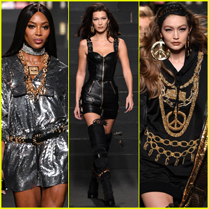 Naomi Campbell Joins Bella & Gigi Hadid on Moschino X H&M Runway!