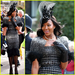 Naomi Campbell Brings Fashion A-Game to Princess Eugenie's Wedding!