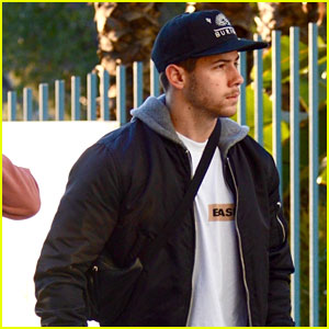 Nick Jonas Arrives to Check Out Dodgers Game in Los Angeles