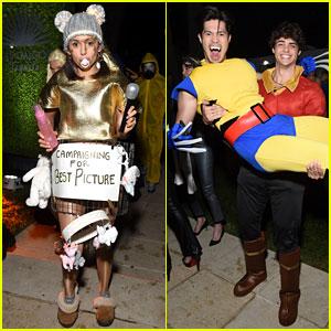 Nina Dobrev, Noah Centineo, & Ross Butler Get in Costume for Casamigos' Halloween Party!