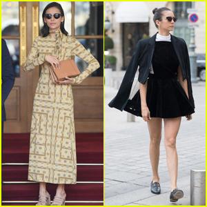 Nina Dobrev Puts on a Chic Display During Paris Fashion Week!