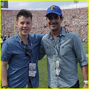Ty Burrell Brings Nolan Gould to Rams Football Game for His 20th Birthday Present!