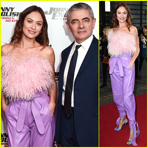 Olga Kurylenko Premieres 'Johnny English Strikes Again' in London with Rown Atkinson!