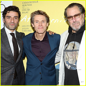 Oscar Isaac & Willem Dafoe Suit Up at 'At Eternity's Gate' Premiere