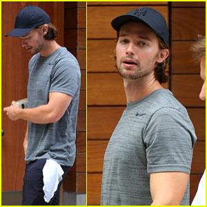 Patrick Schwarzenegger Shows Off His Fit Physique at the Gym