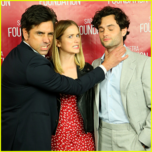 John Stamos Shares Cute Red Carpet Moment with 'You' Cast