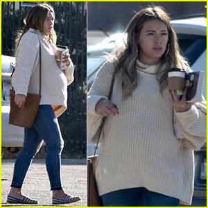 Pregnant Hilary Duff Steps Out After Posting Bare Baby Bump Pic: 'Your Hotel Stay is Up Little Girl'