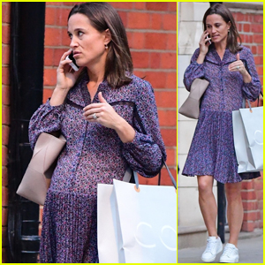 Pregnant Pippa Middleton Goes Shopping in Chelsea