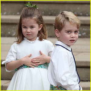 Prince George & Princess Charlotte Look So Cute at Princess Eugenie's Wedding!