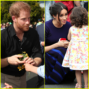 Prince Harry & Duchess Meghan Markle Greet Young Fans During Final Day of Royal Tour!