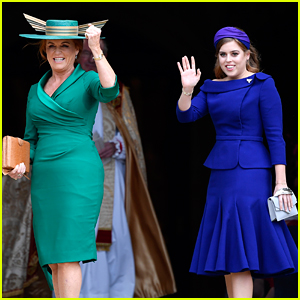 Princess Beatrice & Sarah Ferguson Add Pops of Color to Princess Eugenie's Wedding!