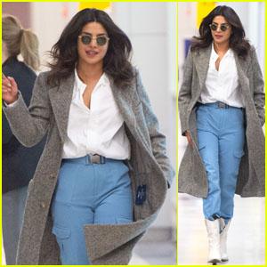 Priyanka Chopra Is Fashionable at the Airport in NYC!