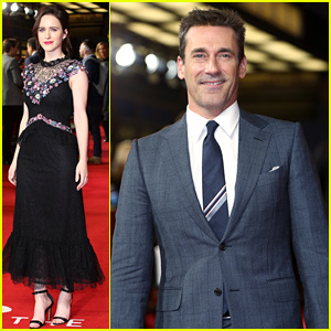 Rachel Brosnahan & Jon Hamm Support the UK Premiere of 'The Romanoffs'
