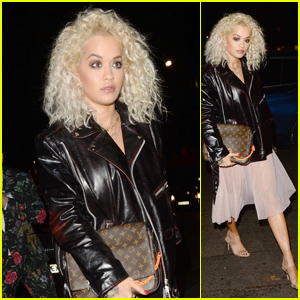 Rita Ora Makes a Chic Arrival to Elena Ora's Birthday Party in London!