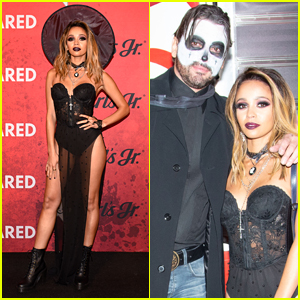 Riverdale's Vanessa Morgan & Skeet Ulrich Hang Out at Just Jared's Halloween Party