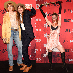 Rumer Willis & Ireland Baldwin Show Their Halloween Spirit at Just Jared's Party