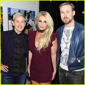 Ryan Gosling Reunites with Mouseketeer Britney Spears on 'Ellen'!