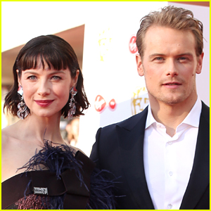 Sam Heughan Playfully Responds to Caitriona Balfe After She Says He Flubs More Lines That She Does!
