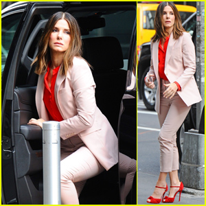Sandra Bullock Looks Chic Stepping Out in New York City