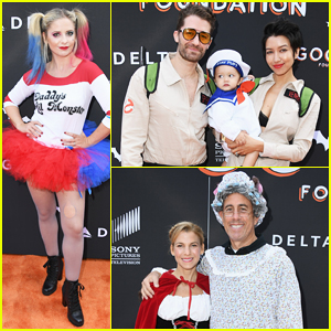 Sarah Michelle Gellar Dresses as Harley Quinn for Jessica Seinfeld's GOOD + Halloween Bash!