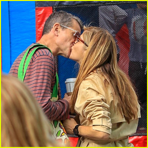 Selma Blair & Boyfriend Ron Carlson Share a Kiss at the Farmer's Market!