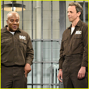 Seth Meyers Visits Bill Cosby in Prison on 'SNL' (Video)