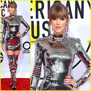 Taylor Swift Shines Like a Disco Ball on American Music Awards 2018 Red Carpet!