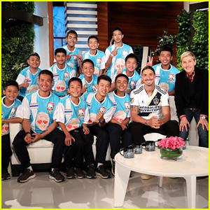 Ellen DeGeneres Talks to Thai Soccer Team in First In-Studio Interview Since Cave Rescue - Watch!