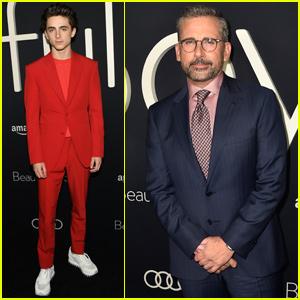 Timothee Chalamet & Steve Carell Premiere 'Beautiful Boy' in LA