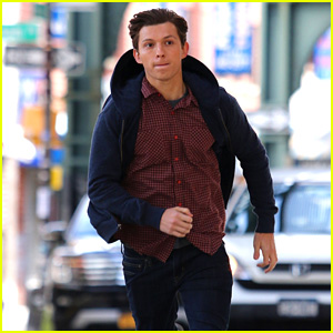 Tom Holland Runs on the Set of 'Spider-Man: Far From Home'!