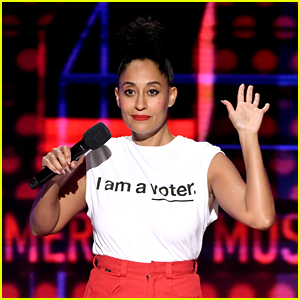Tracee Ellis Ross Promotes Voting at AMAs with 'I am a voter.' Shirt!