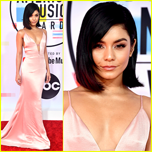 Vanessa Hudgens Goes Pretty in Pink for American Music Awards 2018