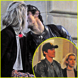 Vanessa Kirby & Callum Turner Share a Kiss on Their Date Night