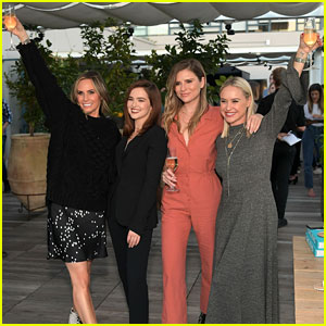 Zoey Deutch Supports 'LadyGang' Stars at Fall Podcast Party!