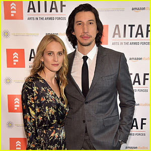 Adam Driver Supports Arts in the Armed Forces with Wife Joanne Tucker