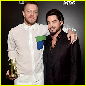 Adam Lambert Presents Award to Dan Reynolds at Hollywood Film Awards 2018!