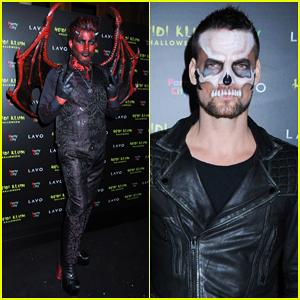 Adam Lambert Is Devilish at Heidi Klum's 2018 Halloween Party!