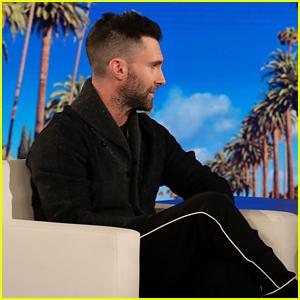 Adam Levine Addresses Super Bowl Rumors on 'Ellen' (Video)