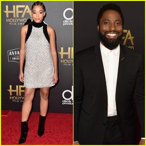Amandla Stenberg & John David Washington Attend Hollywood Film Awards 2018!