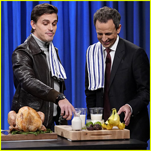 Antoni Porowski Shows Seth Meyers How to Cook Thai Turkey Bowls - Watch!
