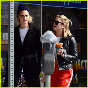 Ashley Benson & Rumored Girlfriend Cara Delevingne Grab Coffee in Studio City