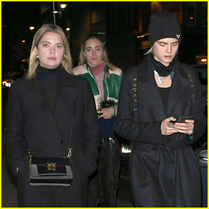 Ashley Benson Spends Thanksgiving Weekend in London with Cara Delevingne!