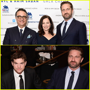 Gerard Butler & Ashton Kutcher Support Israel Defense Forces Soldiers at FIDF Gala!