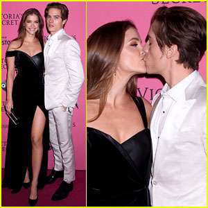 Barbara Palvin & Boyfriend Dylan Sprouse Share a Kiss at Victoria's Secret Fashion Show After Party!
