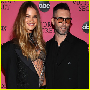 Behati Prinsloo & Adam Levine Share Rare Family Photo With Daughters Dusty Rose & Gio