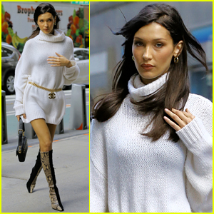 Bella Hadid Looks So Chic Stepping Out for Victoria's Secret Fashion Show 2018 Fitting!