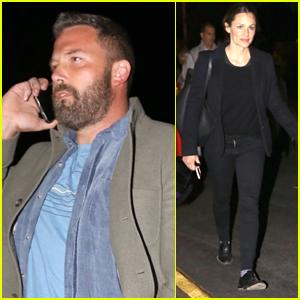 Ben Affleck & Jennifer Garner Meet Up to Take Their Kids to Halloween Party