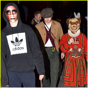 Brooklyn Beckham Joins His Brothers for Halloween Trick-or-Treating in London!